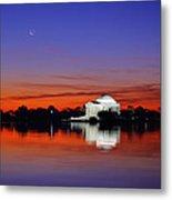 Jefferson Memorial At Dawn Metal Print