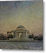 Jefferson Memorial At Dusk Metal Print