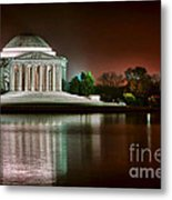 Jefferson Memorial At Night Metal Print by Olivier Le Queinec