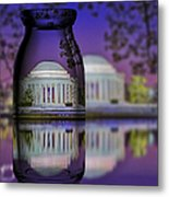 Jefferson Memorial In A Bottle Metal Print by Susan Candelario