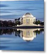 Washington Dc Jefferson Memorial In Blue Hour Metal Print