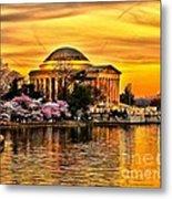 Jefferson Memorial Sunset Metal Print
