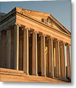 Jefferson Memorial Sunset Metal Print by Steve Gadomski