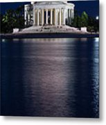 Jefferson Memorial Washington D C Metal Print by Steve Gadomski