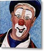 Watercolor Clown #11 Jeffrey Potts  Metal Print