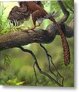 Jeholornis Prima Perched On A Tree Metal Print by Sergey Krasovskiy