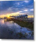 Jekyll Island Sunset Metal Print by Debra and Dave Vanderlaan