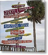 Jekyll Island Where To Go Metal Print