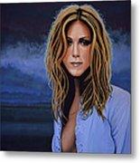 Jennifer Aniston Painting Metal Print