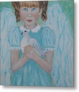 Jenny Little Angel Of Peace And Joy Metal Print by The Art With A Heart By Charlotte Phillips
