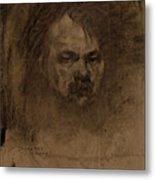 Jerome Myers, Self-portrait, American, 1867 - 1940 Metal Print