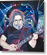 Jerry Garcia And Lights Metal Print