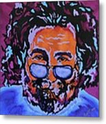 Jerry Garcia-it's A Me Thing Metal Print by Bill Manson