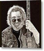 Jerry Garcia String Beard Guitar Metal Print