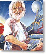 Jerry Garcia Live At The Mars Hotel Metal Print