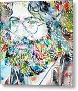 Jerry Garcia Watercolor Portrait.2 Metal Print