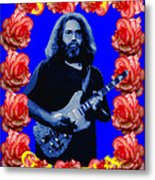 Jerry In Blue With Rose Frame Metal Print