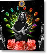Jerry Spacepods Triple Jerry Ufo Roses Under Cosmic Sun Metal Print