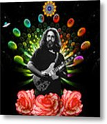 Jerry Spacepods Ufo Roses Under Cosmic Sun Metal Print