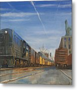 Jersey Central Lines Metal Print