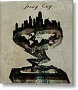 Jersey City Skyline Metal Print