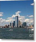 Jersey City Skyline From Harbor Metal Print