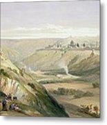 Jerusalem April 5th 1839 Metal Print by David Roberts