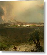 Jerusalem From The Mount Of Olives Metal Print