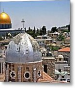 Jerusalem Old City Domes Metal Print