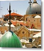 Jerusalem Old City Skyline Metal Print