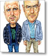 Jesse Pinkman And Walter White Metal Print