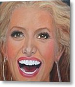 Jessica Simpson Metal Print by Shirl Theis