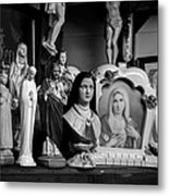 Jesus And Mary At The Curio Shop Metal Print by Bob Orsillo