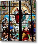 Jesus Angels Stained Glass Painting Inside Cologne Cathedral Germany Metal Print