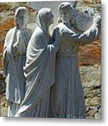 Jesus Carrying Cross Metal Print