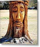 Jesus Carving Metal Print