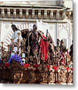 Jesus Christ And Roman Soldiers On Procession Metal Print by Artur Bogacki