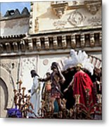 Jesus Christ And Roman Soldiers On Procession Platform Metal Print