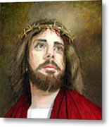 Jesus Christ Crown Of Thorns Metal Print