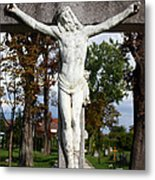 Jesus Christ Crucified Metal Print