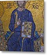 Jesus Christ Mosaic Metal Print