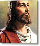 Jesus Christ Metal Print by Munir Alawi