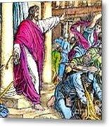 Jesus Cleansing The Temple Metal Print