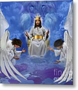 Jesus Enthroned Metal Print by Tamer and Cindy Elsharouni