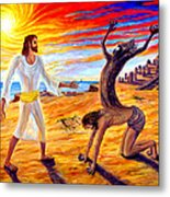Jesus Evicting A Demon Metal Print