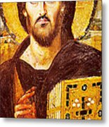 Jesus Icon At Saint Catherine Monastery Metal Print