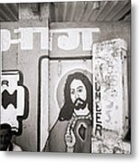 Jesus In Mumbai Metal Print