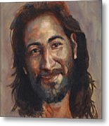 Jesus Loves You Metal Print