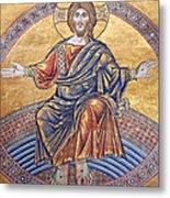 Jesus Mosaics Metal Print