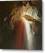 Jesus Of Divine Mercy Metal Print